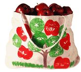 Stamp an Apple Picking Bag from Family Fun