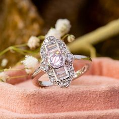 Edwardian Round And Baguette Cut Diamond Engagement Ring - Attractive Handmade Ring - Antique Open Work Ring - Woman's Any Occasion Ring Diamond Shapes, Diamond Cuts, Edwardian Ring, Antique Rings, Diamond Engagement Rings, Heart Ring, Baguette, Wedding Rings, Jewelry