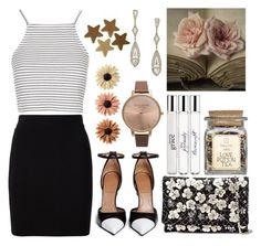 """""""Valentine's day at Hogwarts #3"""" by leah1992 ❤ liked on Polyvore featuring T By Alexander Wang, Topshop, Givenchy, Oscar de la Renta, philosophy, Olivia Burton, Adriana Orsini, mae, love and hogwarts"""