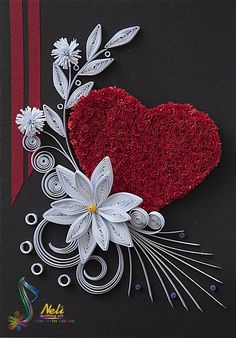 Neli Quilling Art: Cards with boxes - cm / cm Paper Quilling Flowers, Paper Quilling Tutorial, Paper Quilling Cards, Paper Quilling Patterns, Neli Quilling, Quilled Paper Art, Quilling Paper Craft, Paper Crafts, Quilling Letters