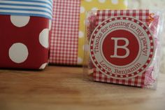 12 Birthday Labels for Party Favors or Gifts by Paperjacks on Etsy, $5.99