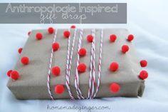 DIY Anthropologie Inspired Gift Wrap