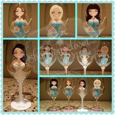shannoncloset - Custom Hand Painted Wine Glasses - Specialty Glasses - Personalized Painted Glasses - Martini - Shot - Beer steins - Pilsner custom drinking glasses and Glassware Bridal Glasses, Bridesmaid Wine Glasses, Wedding Wine Glasses, Decorated Wine Glasses, Hand Painted Wine Glasses, Champagne Party, Champagne Glasses, Wine Glass Candle Holder, Maid Of Honour Gifts