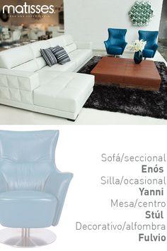 Para ambientes modernos se aconseja combinar texturas y colores, como esta experiencia Matisses, sofisticada y elegante.