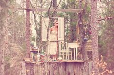 wouldn't it be rad to have a bridal shower tea party in a tree hut?