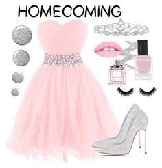 """""""Homecoming"""" by chocolart on Polyvore featuring Casadei, Kate Marie, NYX, Topshop, Deborah Lippmann and Christian Dior"""