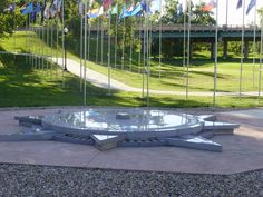 The Geographic Center of the Nation Monument, a 21-foot diameter structure made of etched-SD granite marks Belle Fourche as the town closest to the center of the 50 states.