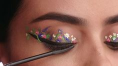 Flower Power! 🌿🌼🌿🌻🌿🌺🌿 Part 2 of the series of eyelid art I worked on!  This video is brought to you by @cosmopolitan and @maybelline ❤️ Featuring their new The Falsies Push Up Angel washable mascara.  Model: @nicollelobo 😍 Hair by @cashlawlesshair ❤️ Makeup by me 😀 Special thank you goes to @annalisagesterkamp for bringing me on board ❤️ Also,  thank you to @glowawaymeg for starting this awesome helix eyeliner trend. Thank you for the inspiration!  #maybelline #maybellinenewyork…