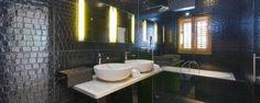 Stylish bathroom at Dvor Na Moru villa.