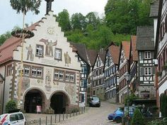 Schiltach is a town in the district of Rottweil, in Baden-Württemberg, Germany. It is situated on the eastern Black Forest, on the river Kinzig, 20 km south of Freudenstadt.