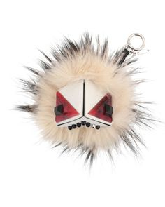 Prism Triangle Monster Fur Purse Charm, White Multi by Fendi at Neiman Marcus. $1000 FP