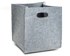 FELT STORAGE BOX WITH HANDLES - different colours available   You may use those boxes as storage boxes in your wardrobe or simply on the shelves. They keep their shape even if