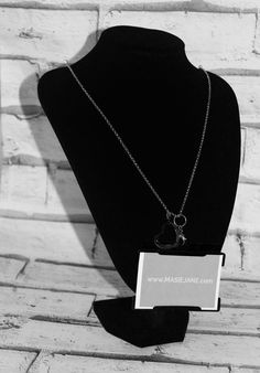 Want my work pass on this Necklace Lanyard by Masie Jane - Pewter Open Heart Charm