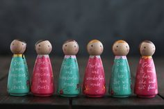Items similar to Custom Peg Doll, She Is More Precious Than Jewels Shelf Sitter, Tiered Tray Decor, Scripture Gift for Her on Etsy Wood Peg Dolls, Clothespin Dolls, Wood Toys, Costum, Non Toxic Paint, Wooden Pegs, Doll Crafts, Inspirational Gifts, Gifts For Women