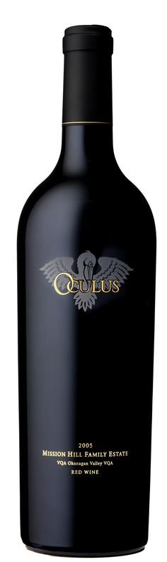 "Mission Hill ""Oculus"".  I bought the 2005 Vintage and had it in late 2011.  I kick myself for not having purchased more when I saw it.  Bordeaux style (my kind of wine) - definitely needed decanting and it was not consumed in a hurry.  Opened right up and it was perfect.  Loved it loved it loved it."