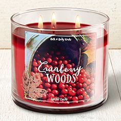 Cranberry Woods 3-Wick Candle - Home Fragrance 1037181 - Bath & Body Works