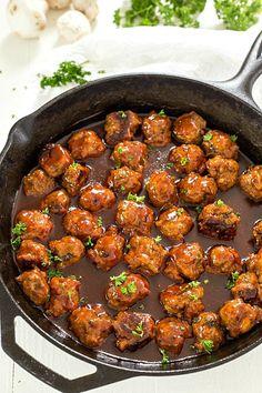 Bacon Honey Bourbon Chicken Meatballs