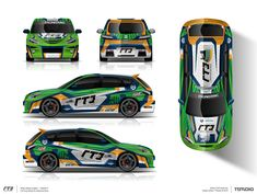 The approved livery design for gte racing team