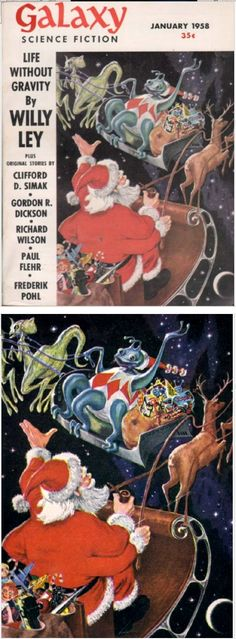 ED EMSHWILLER - Season's Greetings to Our Readers - Jan 1958 Galaxy Science Fiction - cover by isfdb - print by fuckyeahsciencefiction.tumblr.com