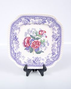 Vintage Spode Mayflower Square Lunch Luncheon by LeVintageGalleria, $58.00