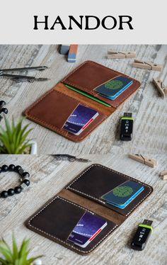 Leather Wallet Wallets for men - Front Pocket Design - Minimalist Handmade Leather Credit Credit Card Wallet, leather wallets, handmade leather #leather #wallet