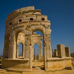 Leptis Magna, also called Lpqy, Neapolis, Lebida or Lebda , was a prominent city of the Roman Empire. Ancient Ruins, Ancient Rome, Ancient Greece, Ancient History, Mayan Ruins, European History, Ancient Artifacts, American History, Classical Architecture