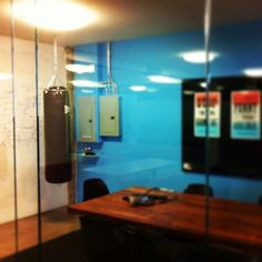 Our newest office addition to represent one of our Klout values: Punch mediocrity in the face. via @Morgan McEntire