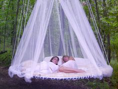 Things for the garden - Floating Bed for Outdoor Sleeping from http://www.floatingbed.com/products/photo-gallery -  on Pinterest ( http://pinterest.com/floatingbed/ ) (by the sunroom)