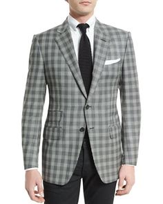 O\'Connor+Base+Prince+of+Wales+Sport+Jacket,+Black/White+by+TOM+FORD+at+Neiman+Marcus.