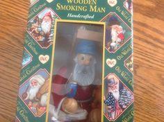 Merck - Old World Christmas - Wooden Smoking Man