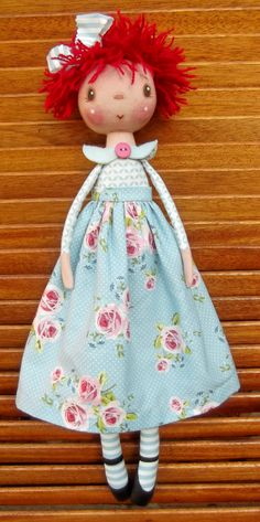 """Blossom ""  Doll Pattern by Annie Smith.....(100% country cuteness! annie would also look cute with angel's wings, too!)..."