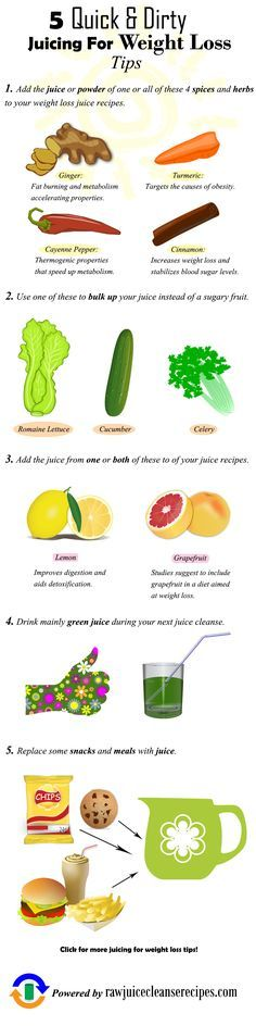 5 Quick & Dirty Juicing for Weight Loss Tips! These tips will seriously help you to kick up the amount of weight you lose when juicing.