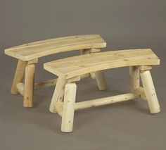 Log furniture Rustic Furniture Curved Bench Set Breast Enhancers Throughout history, women have gone Contemporary Rustic Decor, Modern Rustic Furniture, Log Furniture, Deco Furniture, Furniture Design, Urban Furniture, Victorian Furniture, Furniture Logo, Furniture Showroom