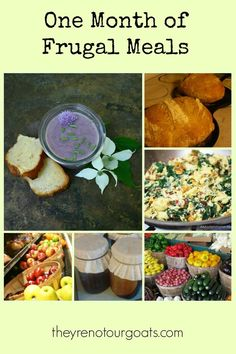 Need a little budget-friendly meal planning inspiration? Check out our list of frugal meals that will last you all month long! Frugal Meals, Budget Meals, Quick Meals, Budget Recipes, Cheap Recipes, Family Recipes, Freezer Meals, Weeknight Meals, Easy Recipes