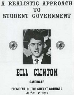 Clinton ran for President of the Student Council while attending the School of…