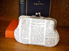 Bookish dictionary clutch pouch by peppermintdesigns on Etsy Book Lovers Gifts, Gift For Lover, Book Clutch, Book Purse, Book Bags, Good Books, My Books, Librarian Style, Book Jewelry
