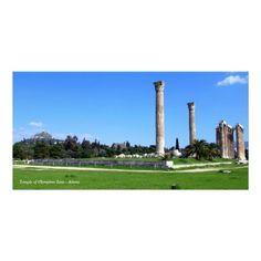 Temple of Olympian Zeus - Athens Customized Photo Card