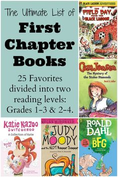 Finding first chapter books that kids enjoy can make or break their love of reading. These 25 favorite chapter books are divided in two reading levels, grades 1-3 & 2-4, making it easy to find the right book. Most are book series, giving kids tons of reading fun!