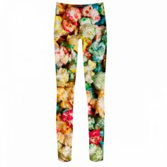 Popi leg - Would you wear them to the movies? Printed Leggings, Pajama Pants, Legs, Popcorn Kernels, Cotton, How To Wear, Clothes, Beauty, High Definition