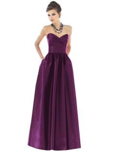 i like the alfred sung collection.  it looks like they have similar long dresses with different tops, i think italian plum is the color you're looking for :)