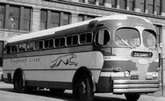 Image result for Greyhound Buses 1940 1950