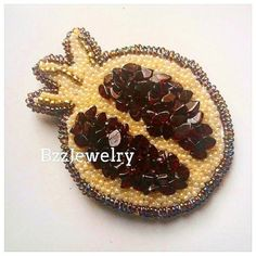 ❤Брошь ручной работы  ГРАНАТ с натуральным гранатом)    #bzzjewelry