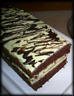 Kakaový rez s vynikajúcim tvarohovým krémom (fotorecept) Sweet Recipes, Healthy Recipes, Healthy Food, Nutella, Tiramisu, Vitamins, Ethnic Recipes, Desserts, Anna