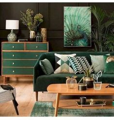 80 Awesome Mid Century Modern Design Ideas is part of Stylish bedroom decor - Modern wood Lamp Dining Rooms 80 Awesome Mid Century Modern Design Ideas Living Room Green, Green Rooms, Bedroom Green, Decor Scandinavian, Industrial Scandinavian, Mid Century Living Room, 1960s Living Room, Stylish Bedroom, Modern Bedroom