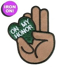 On My Honor Fun Patch. Iron on! Great patch for all levels. As low as $.49. See more Girl Scout Fun Patches on PatchFun.com