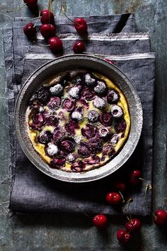 See how to sub out cream for @MountainHighYoghurt in this traditional Cherry Clafoutis. Black cherries and Demerara sugar give this dessert a creamy and custard-like texture. Click through for the full recipe.