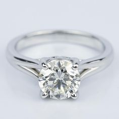 Would you wear this stunning Custom Split Shank 2.00 Carat Round Solitaire Engagement Ring?