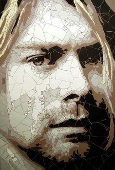 ED CHAPMAN. Mosaico de Kurt Cobain