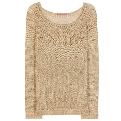 Tamara Mellon - Crochet-knit sweater - Glitter in gold with this charming crochet knit from Tamara Mellon. The sleek design will look great paired with casual denim by day or leather skinnies and stilettos at night. seen @ www.mytheresa.com