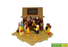 Lego Beach, Lego Studios, Lego Duplo, Lego Building, Surf Shop, Before Christmas, Legos, Buildings, Surfing